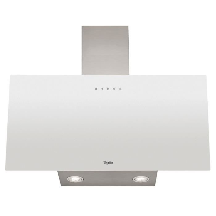 WHIRLPOOL WHVP63LTW Hotte à visière - Evacuation et recyclage - 625 m3 air / h max - 60 dB max - 3 vitesses - L 60 cm - Blanc