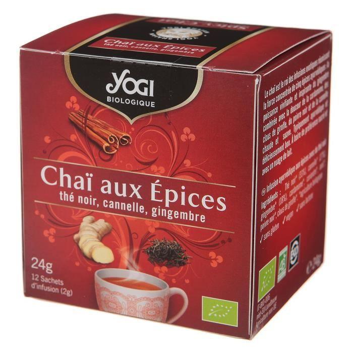 YOGI Thé chai épices bio - 24g