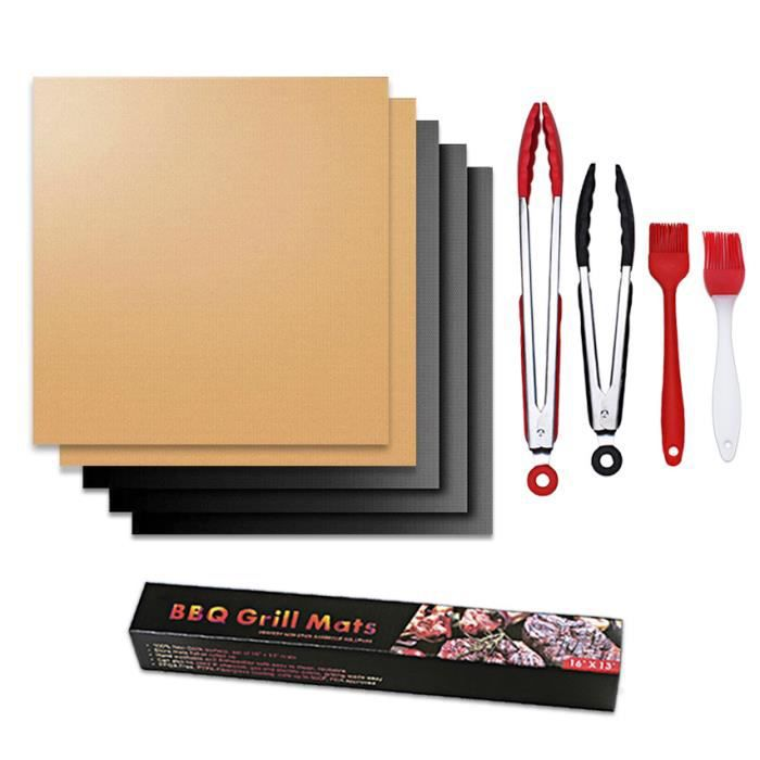 FEUILLE DE CUISSON  Kit Outil BBQ Tapis de Cuisson Barbecue Anti-adhér