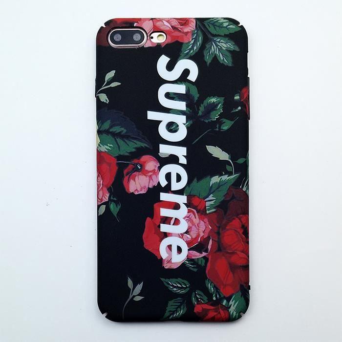 supreme coque iphone 7 plus 7s plus fleur 1