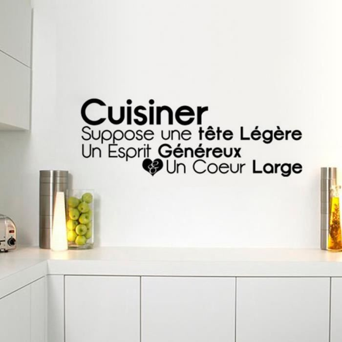 citation de la bonne cuisine stickers muraux d coration de la maison 1486 fond d 39 cran achat. Black Bedroom Furniture Sets. Home Design Ideas