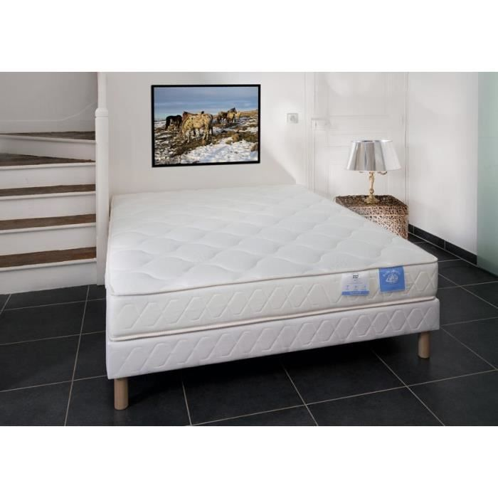 sommier et matelas mousse 21 cm 140x190 benoist amili achat vente ensemble literie cdiscount. Black Bedroom Furniture Sets. Home Design Ideas