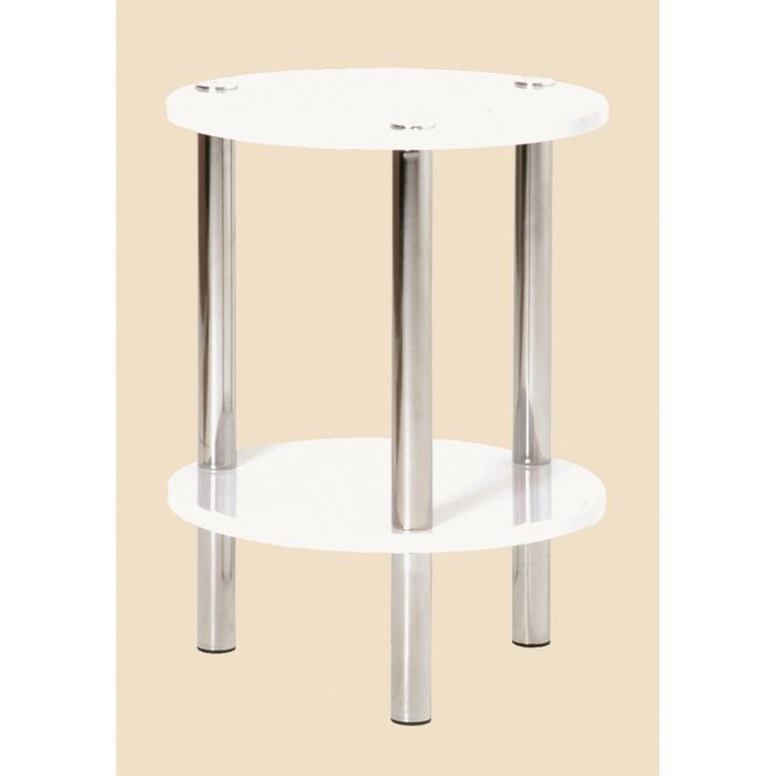 Table d 39 appoint ronde erden chrom blanc achat vente - Table ronde d appoint ...