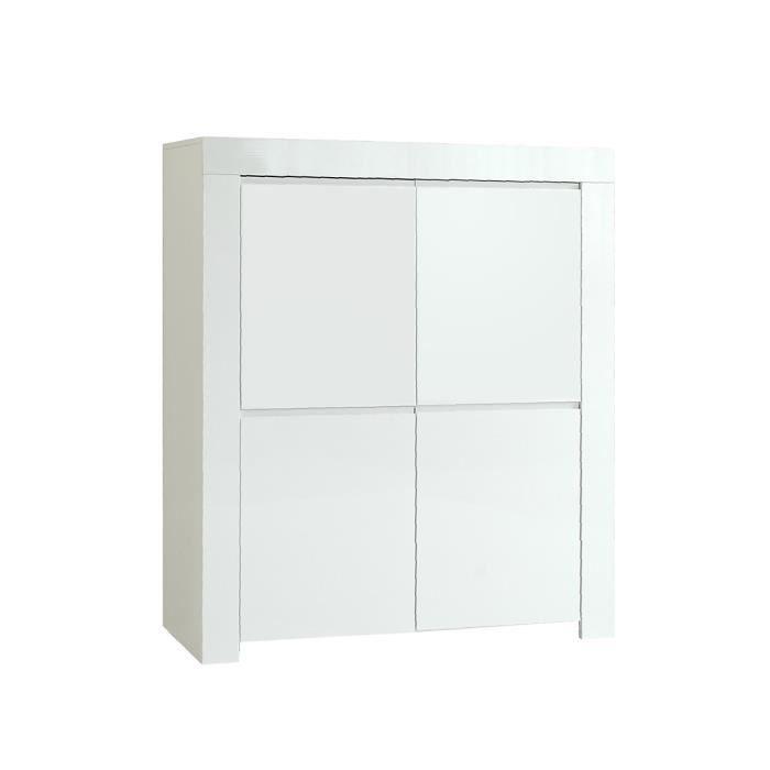 Meuble Haut 4 Portes Laque Blanc Amalfi Blanc Achat