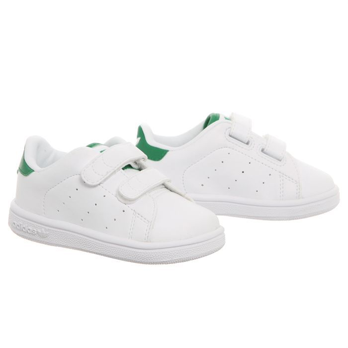 adidas baskets stan smith cf i b b vert blanc achat vente basket soldes d t cdiscount. Black Bedroom Furniture Sets. Home Design Ideas