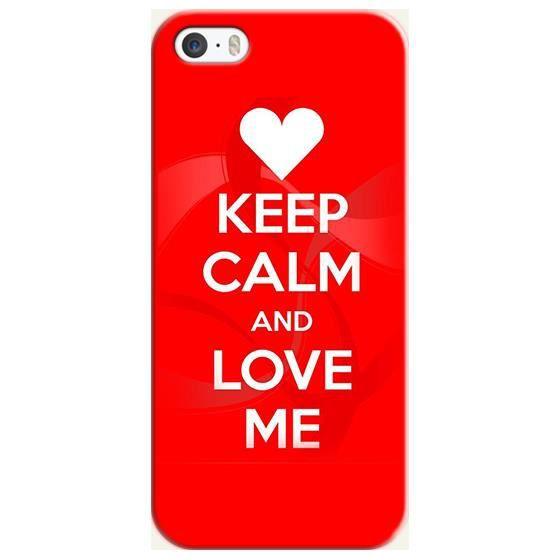 coque iphone 5c keep calm love coeur rouge