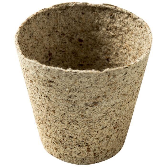 100pcs Pot De Fleur Plastique Pots de Fleurs bacs à semis 9*6*8cm équilibré de drainage