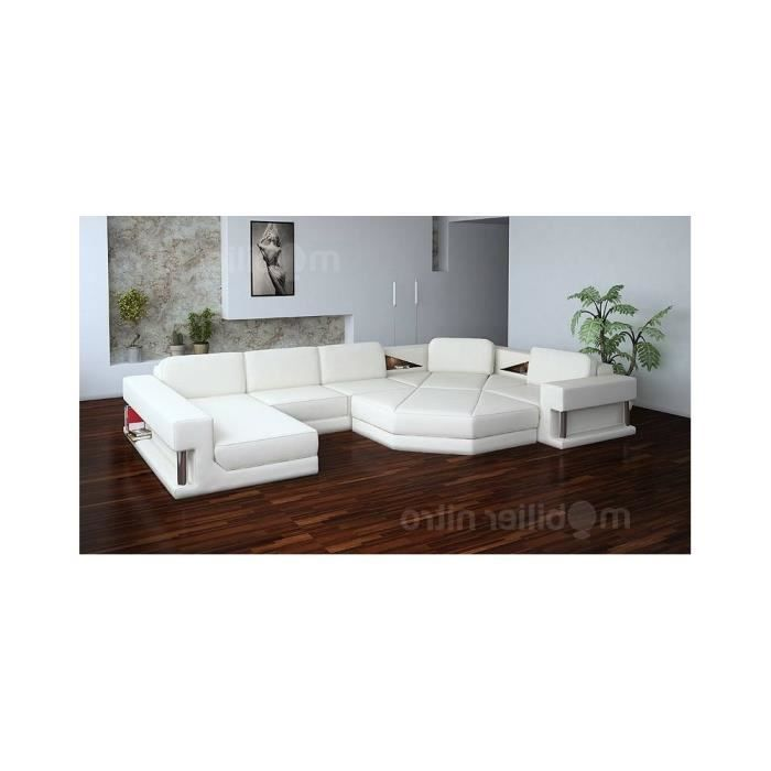 canap d 39 angle star blanc cuir pvc droite achat vente canap sofa. Black Bedroom Furniture Sets. Home Design Ideas