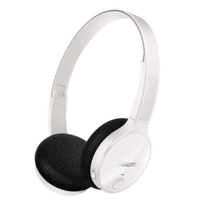 philips shb4000 blanc casque audio bluetooth supra. Black Bedroom Furniture Sets. Home Design Ideas