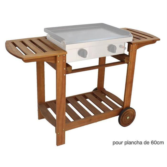 chariot bois pour plancha 60 cm