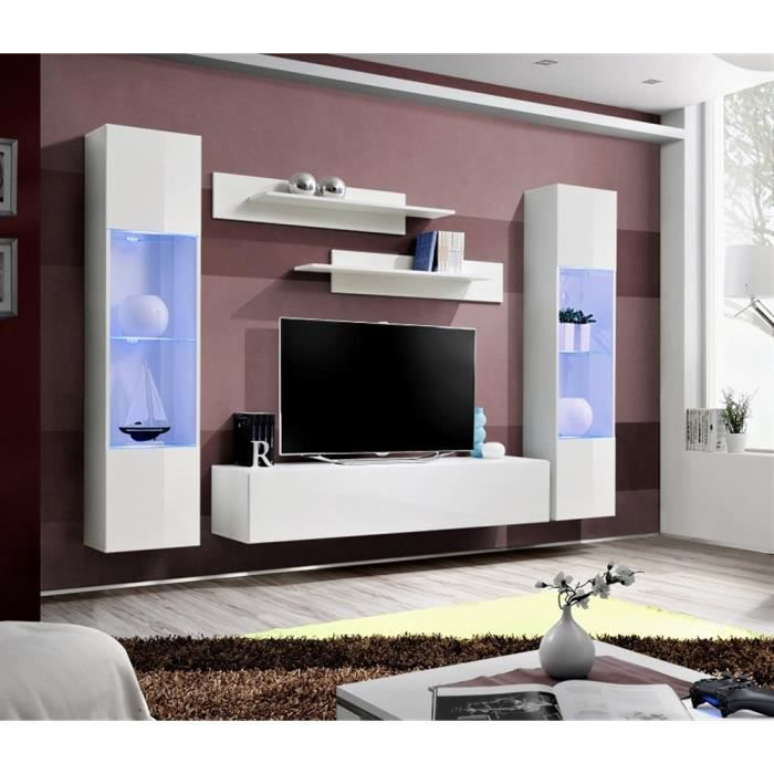 meuble tv fly a3 blanc blanc laqu achat vente meuble tv meuble tv fly a3 blanc bla. Black Bedroom Furniture Sets. Home Design Ideas