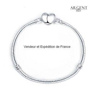BRACELET - GOURMETTE BO 21 CM Bracelet Style Pandora Nu à Charms Coeur