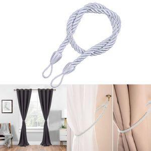 Twisted lisse épaisse corde de satin simple mode moderne cravate de Rideau