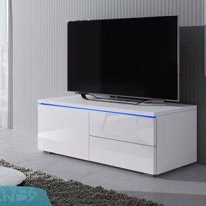 MEUBLE TV Meuble TV / Banc TV - LUV SINGLE - 100 cm - blanc