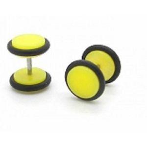 Piercing Boucles d/'Oreilles Faux Ecarteur Plug 6 mm Noir lot de 2 Pièces