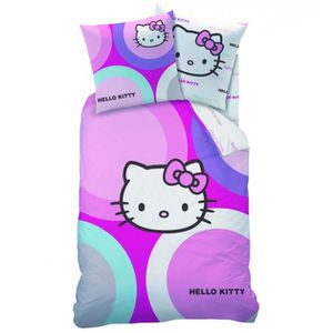 Housse de couette hello kitty 1 personne achat vente for Housse de voiture hello kitty