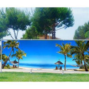 Seychelles 3669 Brise vue déco imprimé