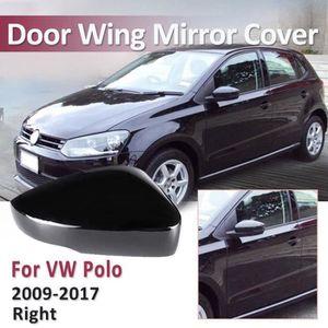 VW Polo Mk4 2002-2005 Porte Aile Coque Rétroviseur Noir N//S Côté Passager Gauche