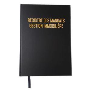 CAHIER Registre des mandats - Gestion immobilière 2019