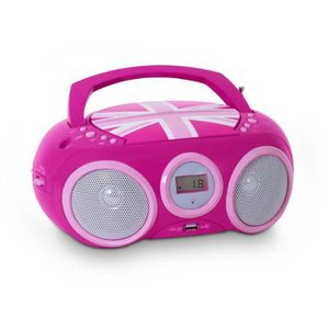 RADIO CD CASSETTE LECTEUR RADIO CD PORTABLE MOTIF GB GIRLY