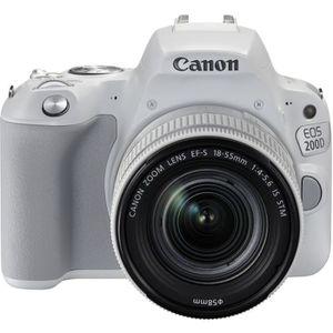 APPAREIL PHOTO RÉFLEX Reflex CANON EOS200D Blanc+EF-S18-55ISST