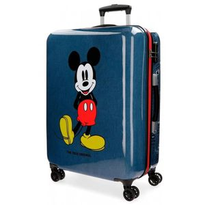 VALISE - BAGAGE Valise ABS 68 CM 4 ROUES - MICKEY BLUE