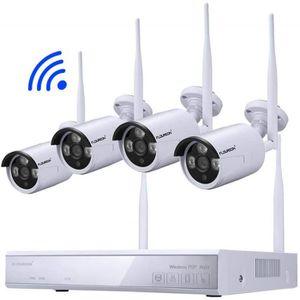 CAMÉRA DE SURVEILLANCE FLOUREON Kit de Surveillance sans Fil 1080P Caméra