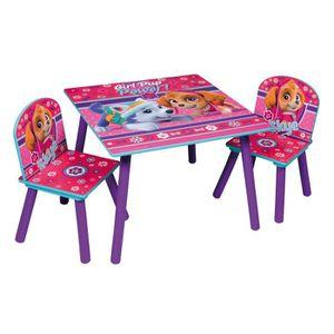 TABLE ET CHAISE PAT PATROUILLE Table et 2 chaises enfant en bois M