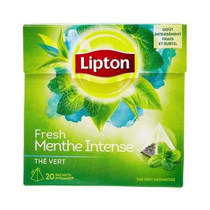THÉ Lipton Thé Vert Menthe Intense 20 Sachets 32g - Lo