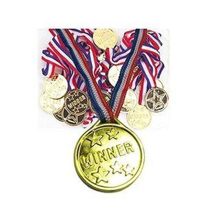 12pcs M/édaille dor en Plastique Kid M/édailles dor en Plastique Outils dor Winner Award M/édailles Sautoir pour Enfants