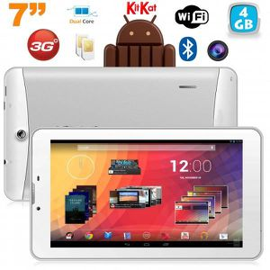 TABLETTE TACTILE Tablette 3G 7 pouces Android Double SIM 4Go Blanc