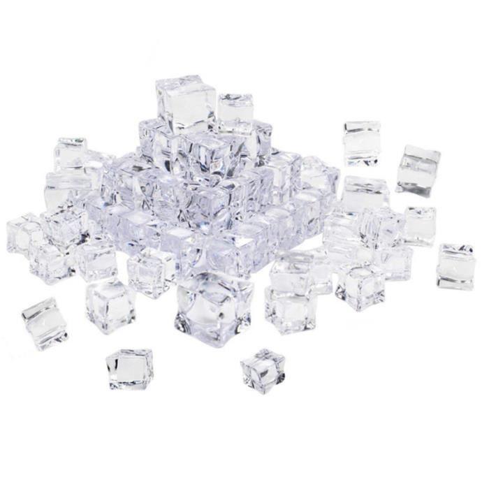 50 pièces cristal décoratif sûr non toxique faux glaçons acrylique carré affichage pour la décoration de maison FAUX GLACONS