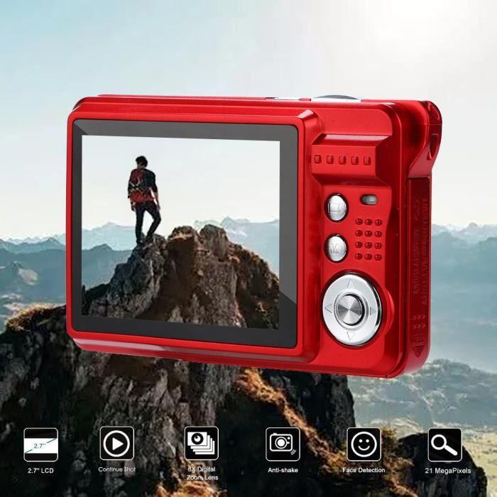2.7HD écran Appareil photo numérique 18MP Anti-Shake détection de visage blanc Caméscope@dx363