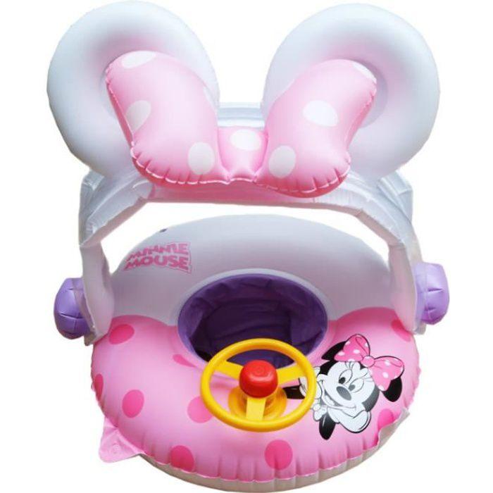 Bouée Gonflable de sécurité Enfant Minnie Pisine Bouée de natation avecGonfleur pour bébé 2-6 ans en PVC