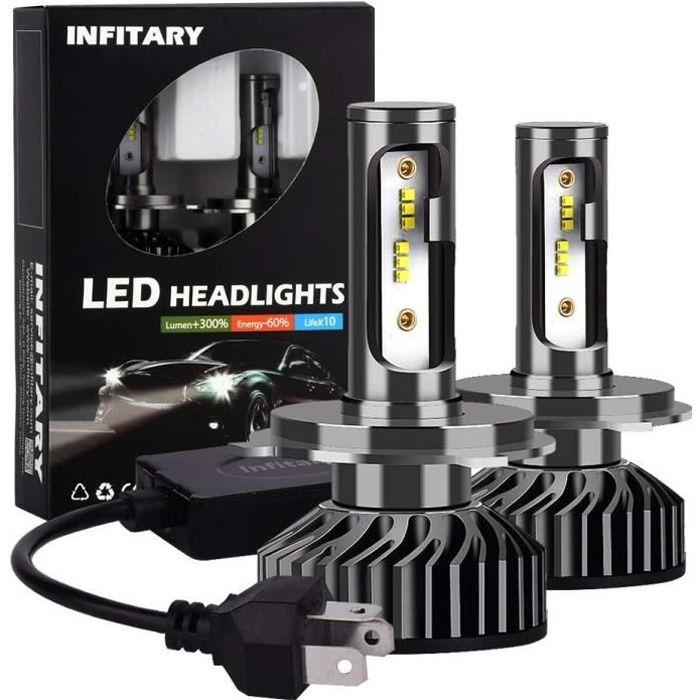 Infitary H4 9003 HB2 LED Headlight Bulbs Conversion Kits High/Low Beam Auto Headlamp Car Headlight 64W 6500K 8000LM Super Bright