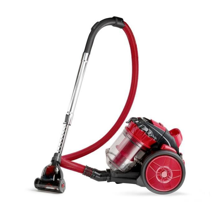 LIVOO Feel good moments - Aspirateur cyclonique spécial animaux - Rouge - Aspirateur cyclonique spécial animaux