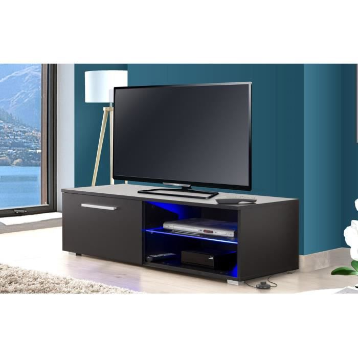 Meuble TV Led noir - TAYS