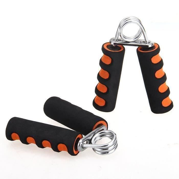 2x Pince Poignee Musculation Exercice Force Main Avant Bras Fitness 20LBS Orange Ro68368