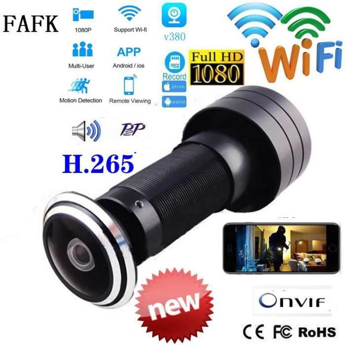 2.1mm Mini judas de porte V380, HD 1080P, 1.7mm, lentille grand Angle, vidéosurveillance, réseau CCTV, WifI,