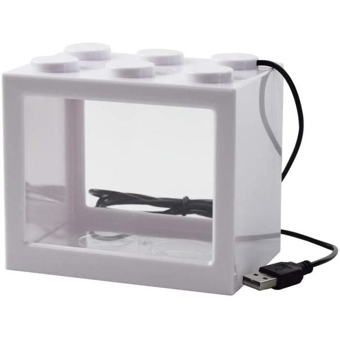 hygger Aquarium 19 Litres, Petit Aquarium avec 3.2W Lampe Led, 5W Pompe à Eau, Boîtier de Filtration Caché, Sortie Bouche Can 17