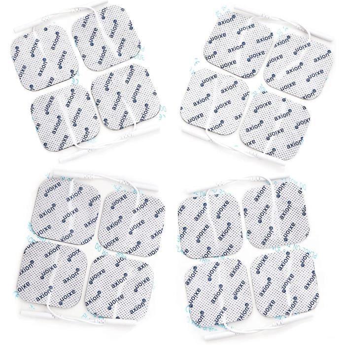 Axion - 16 électrodes 40 x 40 mm - compatible avec les appareils utilisant une connexion à fiches de 2 mm