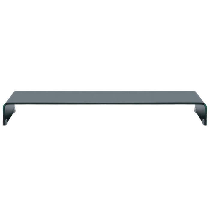 Meuble TV- Support pour moniteur 110 x 30 x 13 cm Verre Noir -PAT HILILAND Pois: 16