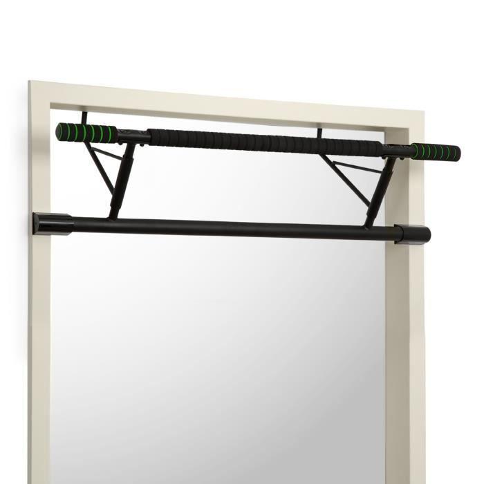 Klarfit In-Door Barre de tractions pour musculation abdos, bras et dos - Fixation porte- Pads EVA - Cadre acier - Charge 130kg