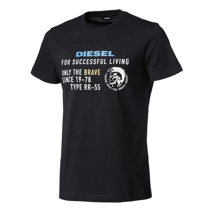 T-Shirt Diesel Diego-XB homme noir
