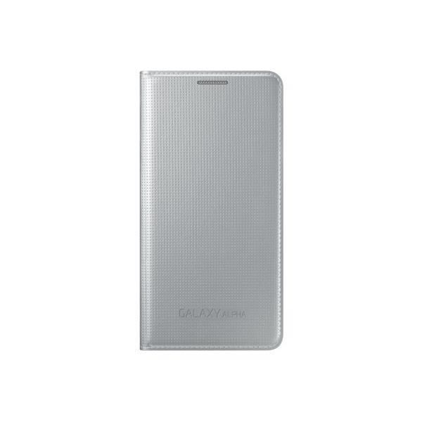 Samsung  Etui Wallet Cover D'Origine  Galaxy Alpha -Silver