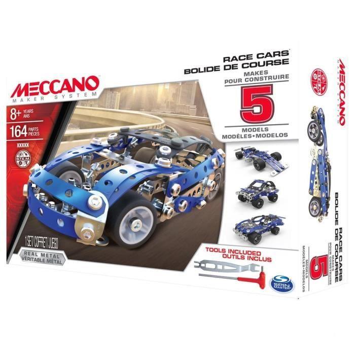 MECCANO Voiture Course Automobile - 5 Modèles à construire - Jeu de construction