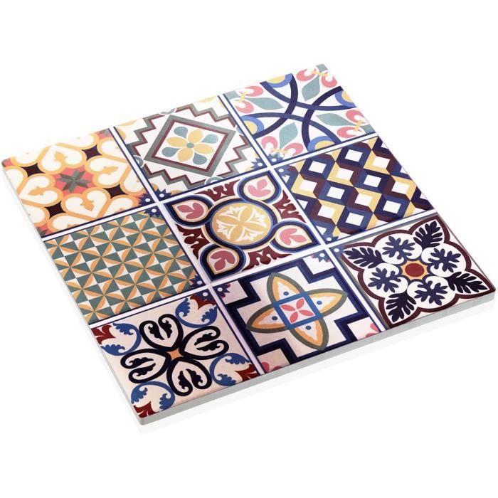 Dessous de plat en céramique carreaux de ciment Multicolore