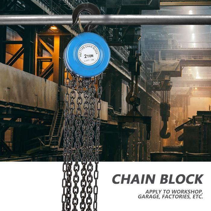 Chaîne de levage d'outils à main de palan à chaîne de bloc d'extracteur de chaîne 2T avec crochet HB004