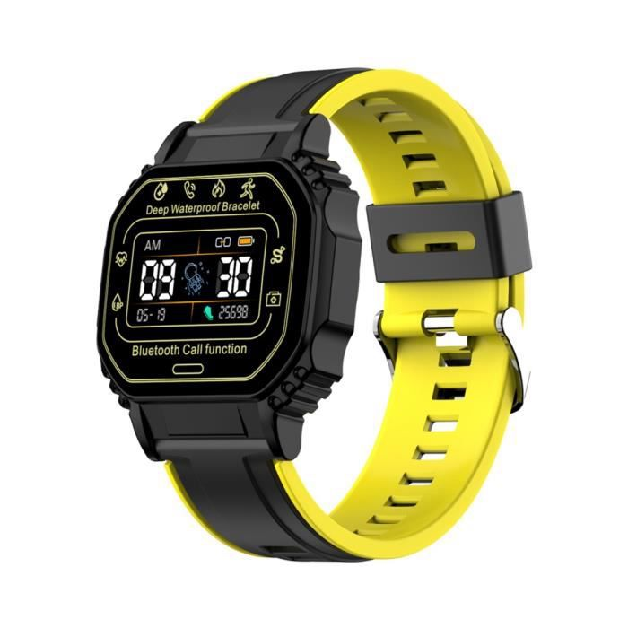 Montre connectee, Bluetooth Call Sports Bracelet- jaune