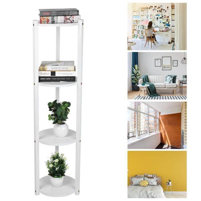 Support de Pot de Fleur /étag/ère de Support pour Balcon Salon Jardin Patio Pots de Plantes de Fleurs Pliables /à Plusieurs Couches Blue+White